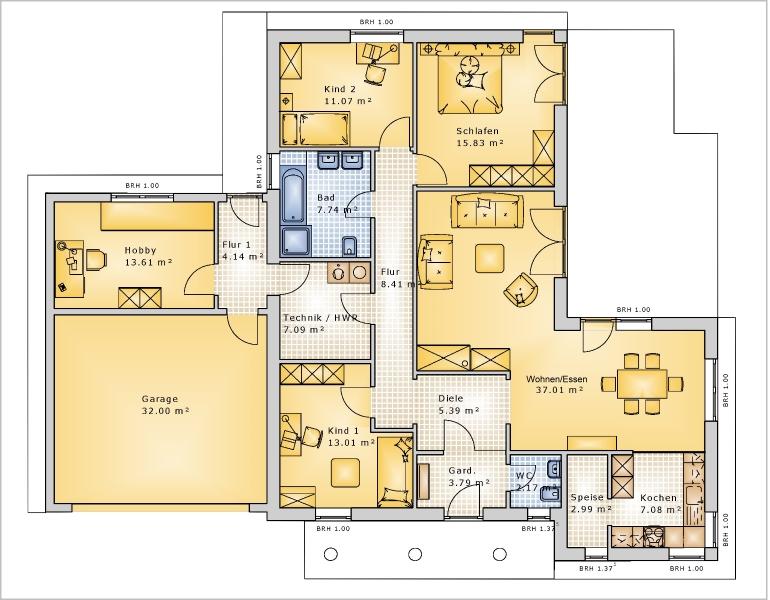 Grundriss bungalow 4 zimmer  171 besten Grundrisse Bilder auf Pinterest | Grundrisse, Grundriss ...