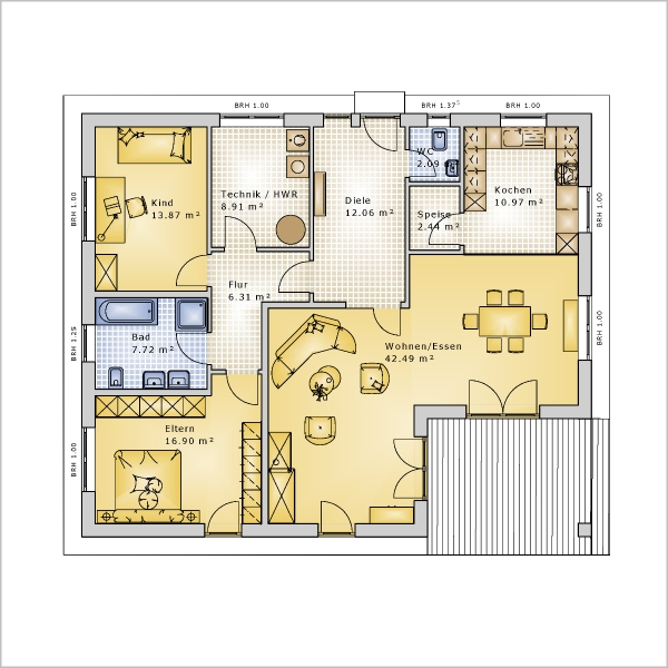 Bungalow Bungalow 123 Grundriss Eg Jpg Pictures to pin on ...