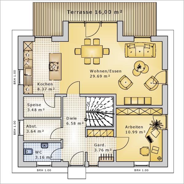 Haus pd 144 k k immobilien immobilienmakler for Pultdachhaus grundriss